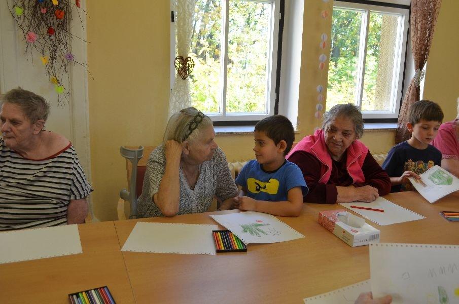 Výtvarná dílna s dětmi z MŠ Slunečnice